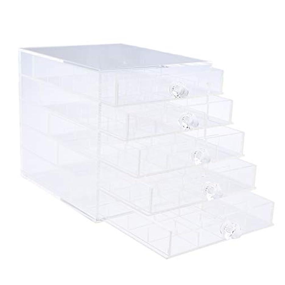 シビック酸度起点Toygogo ジュエリー収納 ネイルアート 収納ボックス 収納ケース 引き出し スアクリル 透明