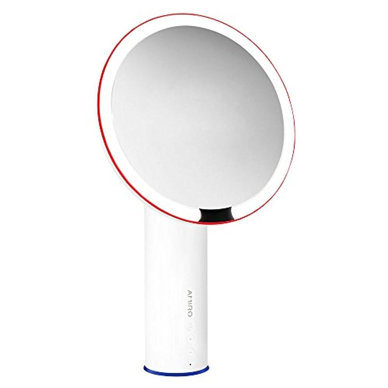 セーター車両実験室AMIRO LED化粧鏡 人感センサー付き 化粧ミラー LEDライト付き 卓上鏡 女優ミラー 3段階明るさ調節可能