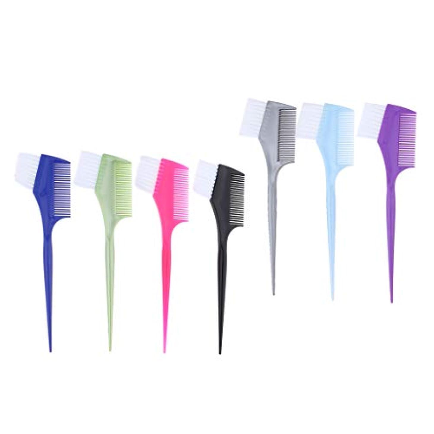 ガロン変化する大胆なF Fityle 7本 ヘアカラーブラシ ヘアコーム 染色ブラシ 染料櫛 スタイリスト