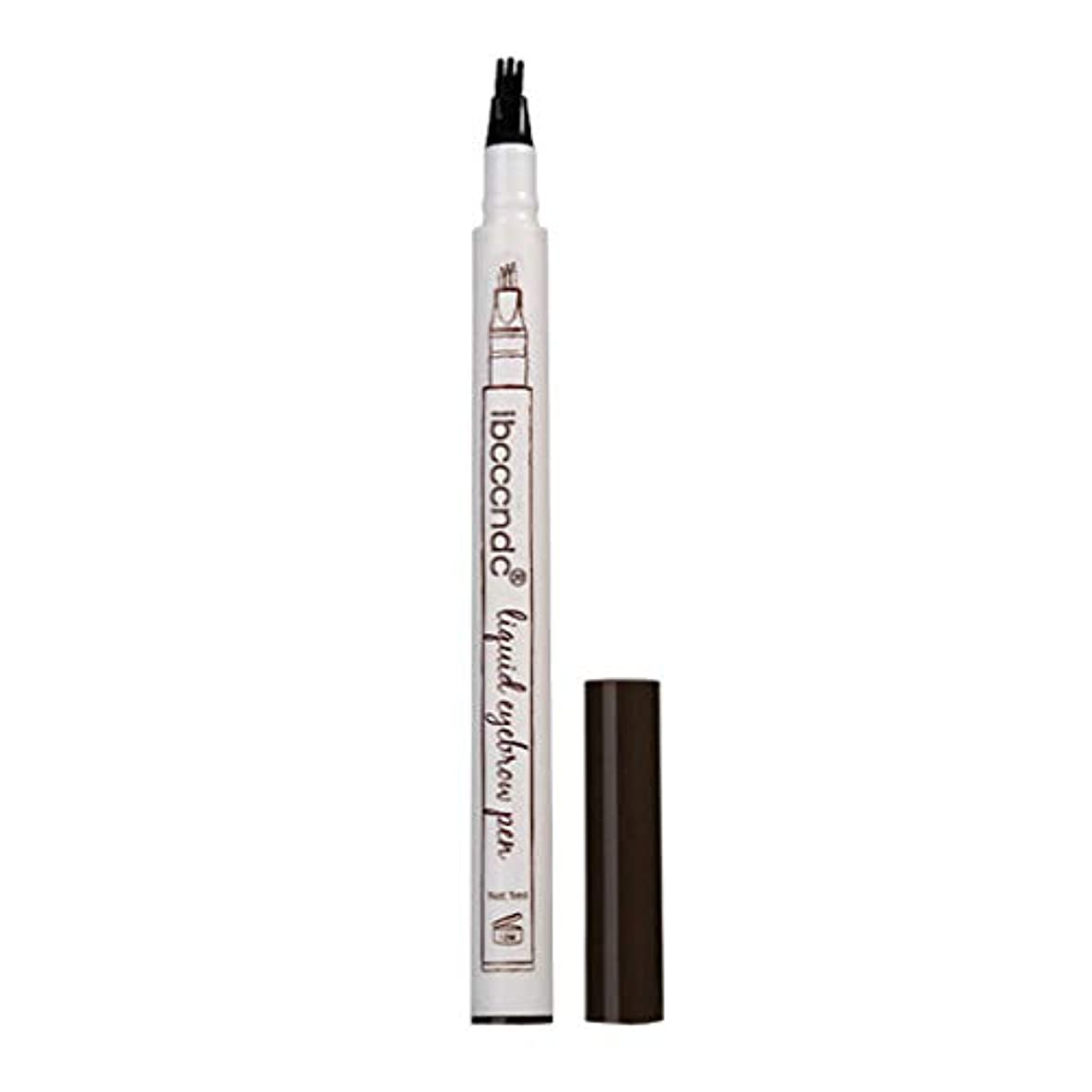サンダル汚すジュニア3本眉タトゥーペン防水フォークチップスケッチ化粧ペンマイクロブレードインク