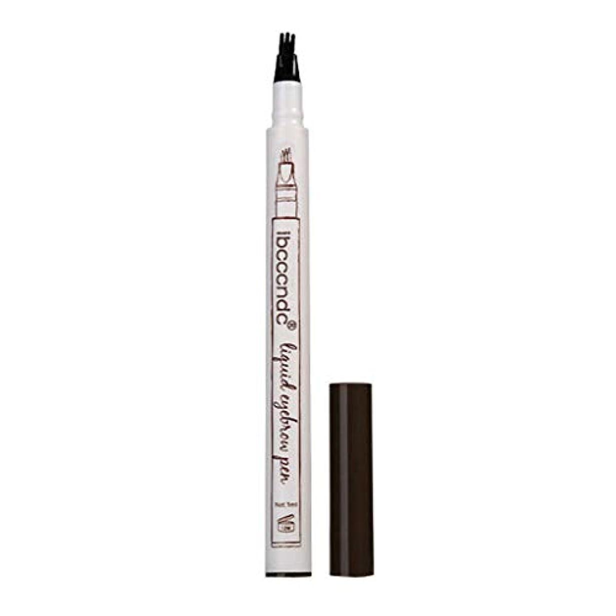 バケツ光沢ブラウン3本眉タトゥーペン防水フォークチップスケッチ化粧ペンマイクロブレードインク