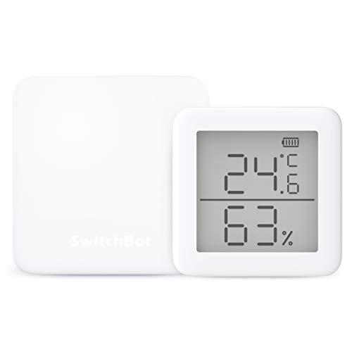 SwitchBot スイッチボット 2個セット スマートホーム 学習リモコン – Alexa グーグルホーム IFTTT イフト Siriに対応 (1 Hub Mini + 1 温湿度計)