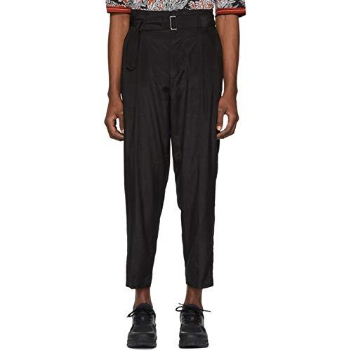 3.1 Phillip Lim (スリーワン フィリップ リム) メンズ ボトムス・パンツ クロップド Black Cropped Belted Trousers サイズWAISTUS36 [並行輸入品]