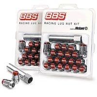 BBS レーシングラグナットキット(McGard) M12xP1.25 クローム/レッド (専用レンチx1、ナットx20個) パーツNO,BBS LGM125R