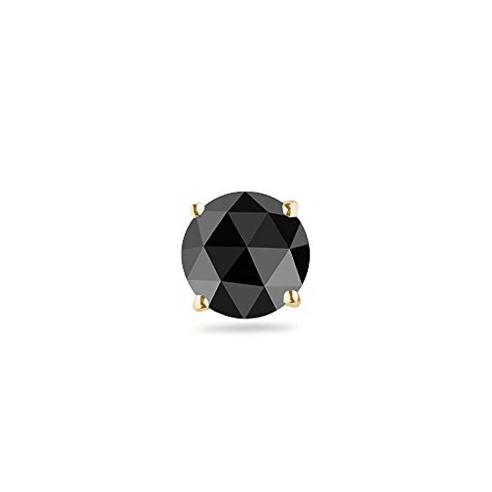 羊の救い経過Holiday Deal on 1 / 9 ( 0.10 – 0.13 ) CTSの2.50 – 3.00 MMラウンドローズカットAAブラックダイヤモンドメンズスタッドイヤリング14 Kイエローgold-screw Backs