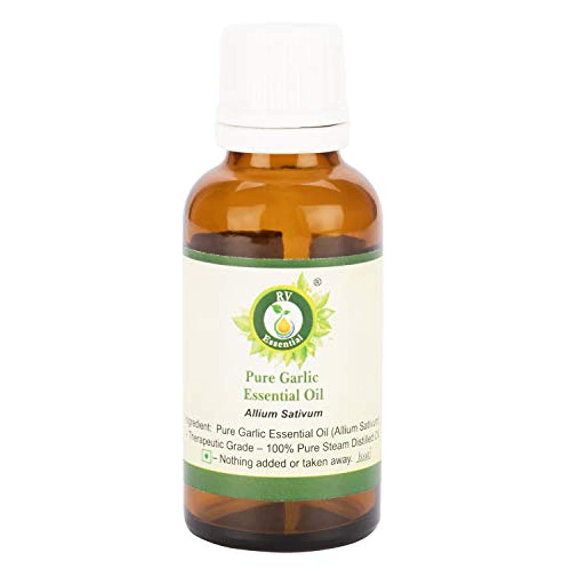 例外四分円持っているピュアニンニクエッセンシャルオイル100ml (3.38oz)- Allium Sativum (100%純粋&天然スチームDistilled) Pure Garlic Essential Oil
