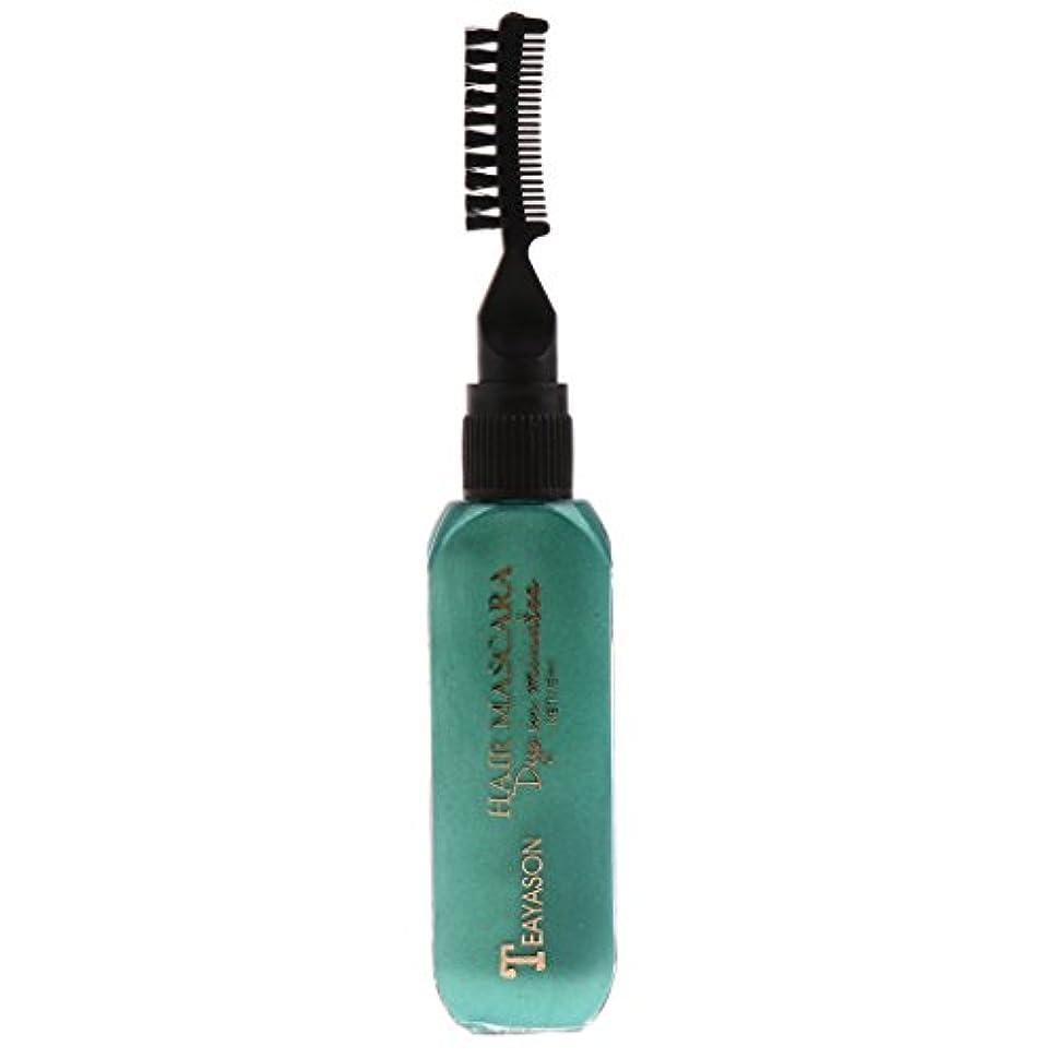 ビタミンカメ休日Sharplace 使い捨て 髪の色チョーク 染料 濃淡 ハイライト マスカラ おしゃれ染め 13色選べ - 緑