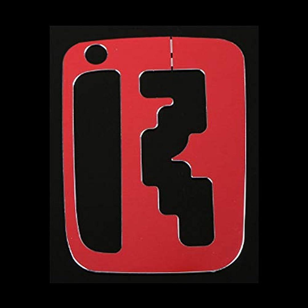 シリーズマッシュ波Jicorzo - Interior Gear Shift Box Cover Trim Console Transfer Frame Car-Styling Aluminum Alloy For Suzuki Jimny 2012-2016 Car Accessories [Red]