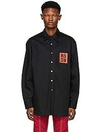 (ラフ シモンズ) Raf Simons メンズ トップス シャツ Black Denim Logo Patch Shirt [並行輸入品]
