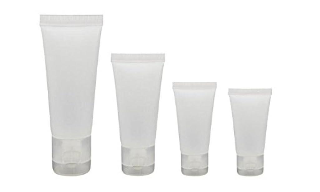 位置するしかし寸法20個15ml/30ml/50ml/100ml空の詰め替え半透明の曇りのあるプラスチックトラベル化粧品メイクアップ軟質のチューブ容器ボトルフリップキャップ付きシャワーローションクレンザーパッキングサンプルボトル (15ml)