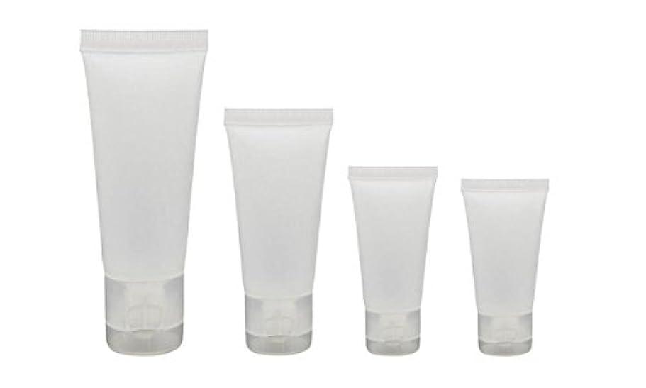 誤弱点不安定20個15ml/30ml/50ml/100ml空の詰め替え半透明の曇りのあるプラスチックトラベル化粧品メイクアップ軟質のチューブ容器ボトルフリップキャップ付きシャワーローションクレンザーパッキングサンプルボトル (15ml)