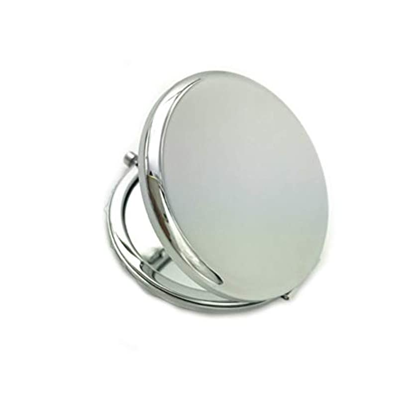 ペフミュージカルグリップFrcolor 化粧鏡 携帯ミラー 折りたたみミラー 化粧ミラー 両面 コンパクトミラー 持ち運びに便利 おしゃれ(シルバー)