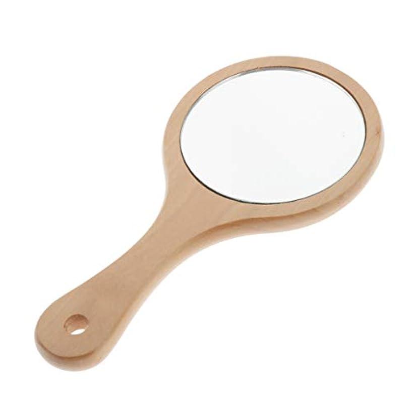 故意に時間厳守ボアCUTICATE 手鏡 コンパクト ミラー ハンドミラー メンズ 化粧ミラー 鏡 木製 美容室 サロン 家庭用 全5選択 - ラウンドS