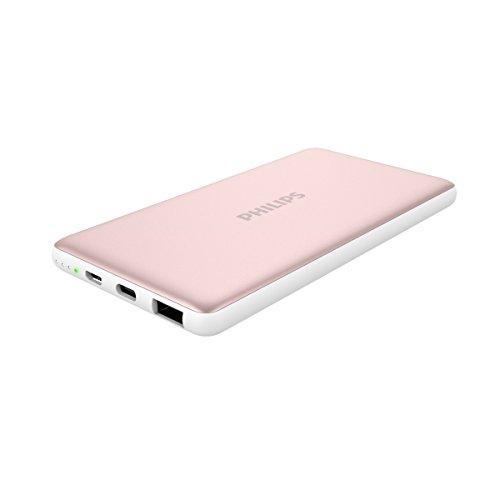 PHILIPS 10000mAh 大容量 モバイルバッテリー 2ポート(Type-C/USB) 急速充電対応 DLP2106