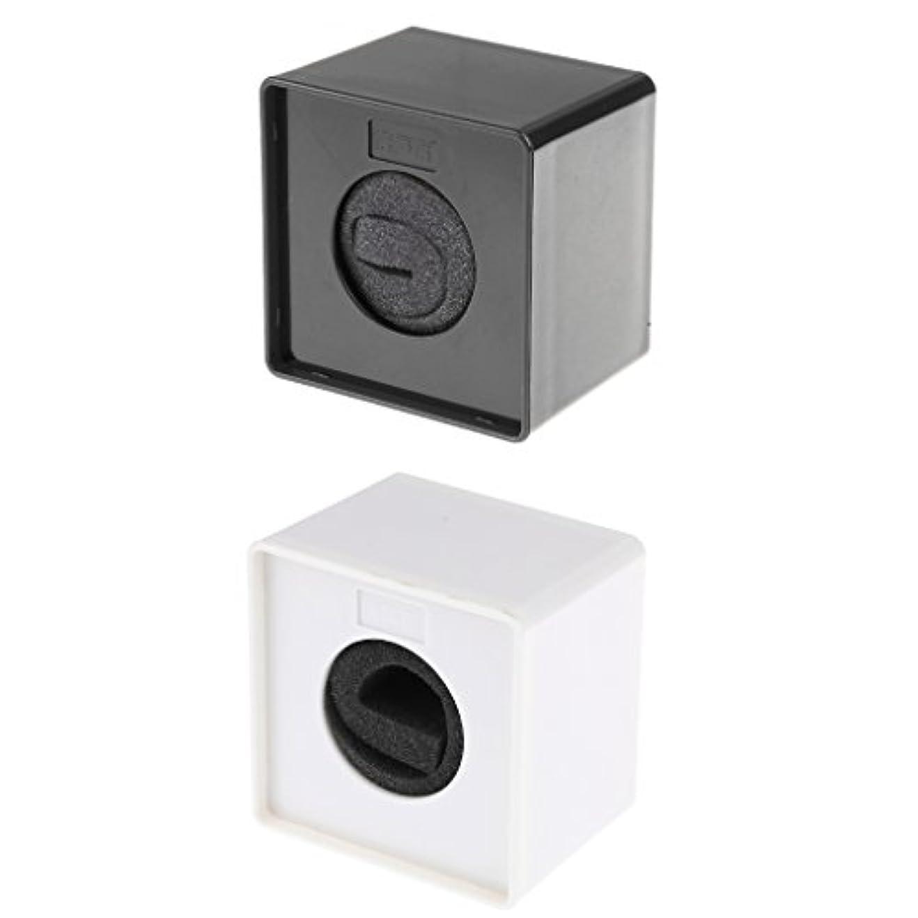 敬なしないでください広告するPerfk 正方形 マイク ロゴフラグ  ステーションログ ミーティングスピーチ ブラック+ホワイト ABS  約8 x 8 x 6 cm