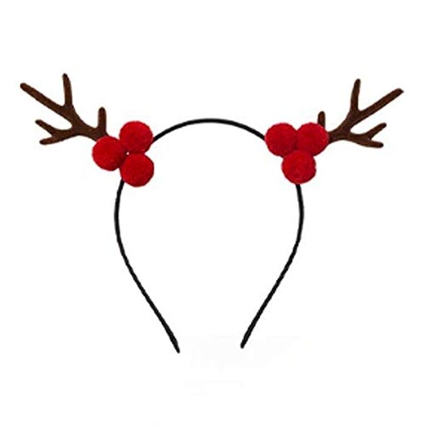 ますます味付けかび臭いクリスマスヘッドバンド小さな枝角新年ヘッドバンドティアラ女性のヘアピン麋森森森精灵スーパー妖精の休日のパーティの宝石ネット赤い髪クリップヘアアクセサリー露パインコーン枝角ヘッドバンド (Style : A)