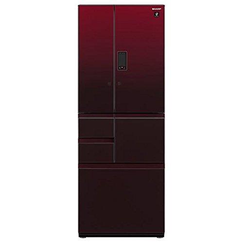 シャープ 502L 6ドア冷蔵庫(グラデーションレッド)SHARP プラズマクラスター冷蔵庫 SJ-GX50D-R