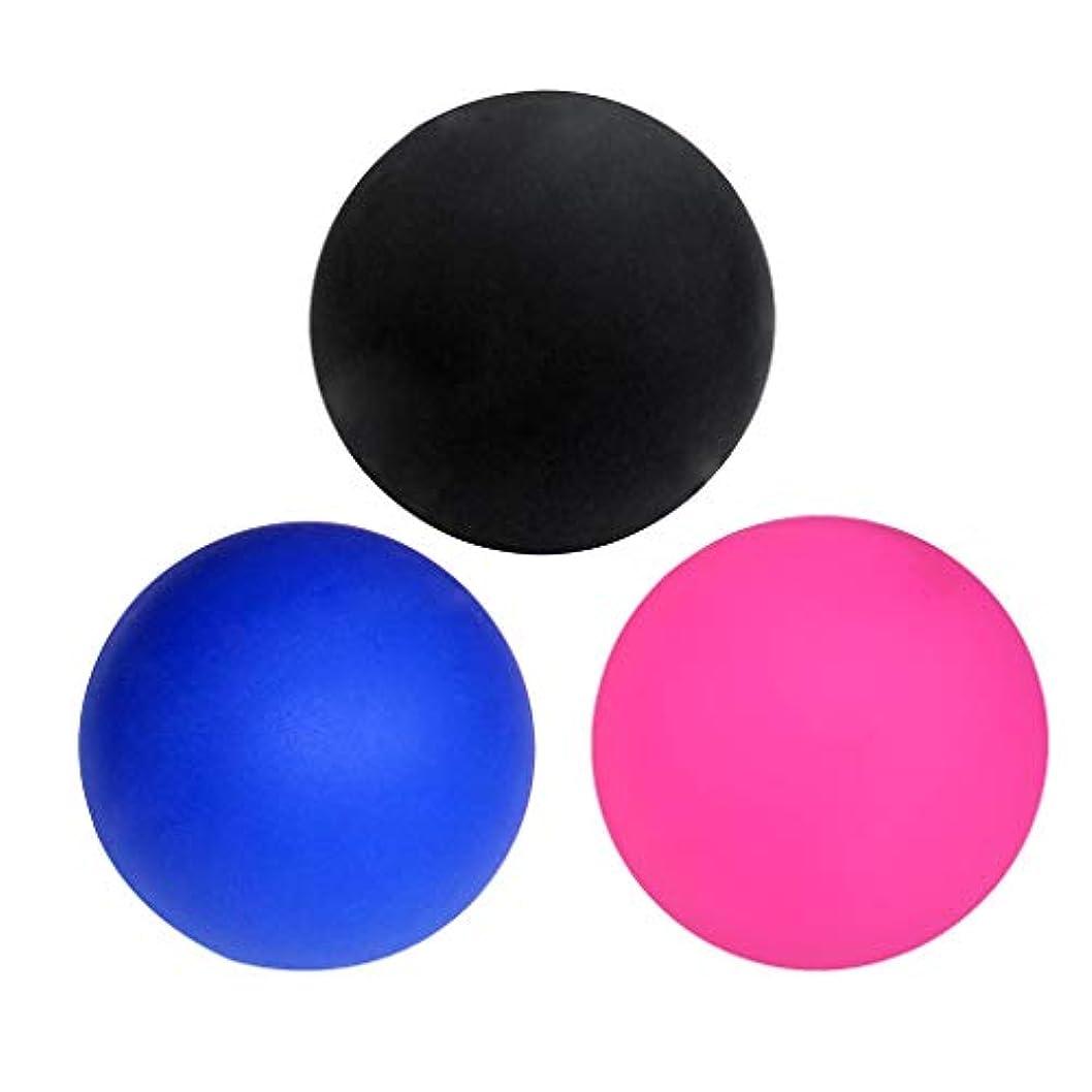 南アメリカカッター不良品マッサージボール ラクロスボール トリガーポイント ゴム製 ジム/ホーム/オフィスなど適用 3個入