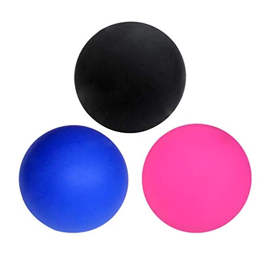きらめく間欠アクセシブルマッサージボール ラクロスボール トリガーポイント ゴム製 ジム/ホーム/オフィスなど適用 3個入