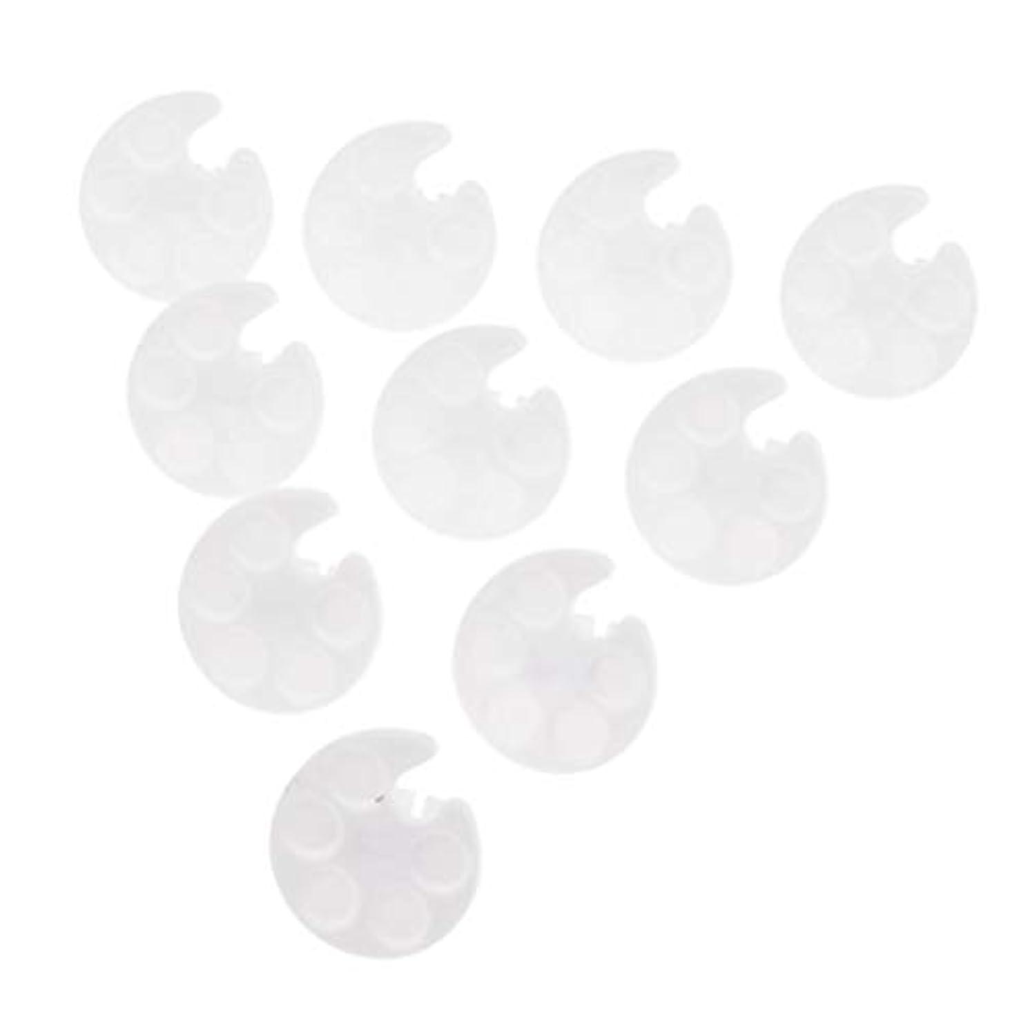分割王室泣くToygogo 化粧品パレット ネイルパレット ネイルアートパレット カラーミキシング ペイント プラスチック 約10個 - 白