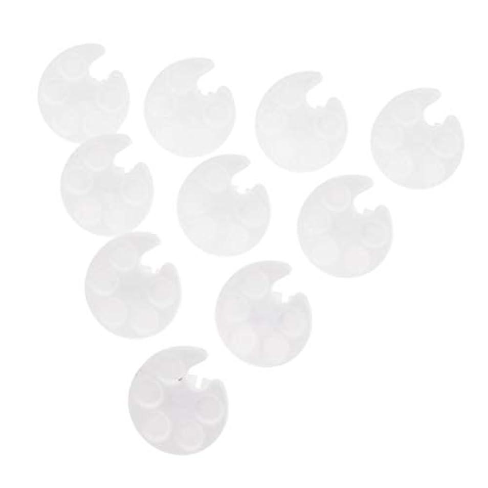健全言い直す無限Toygogo 化粧品パレット ネイルパレット ネイルアートパレット カラーミキシング ペイント プラスチック 約10個 - 白