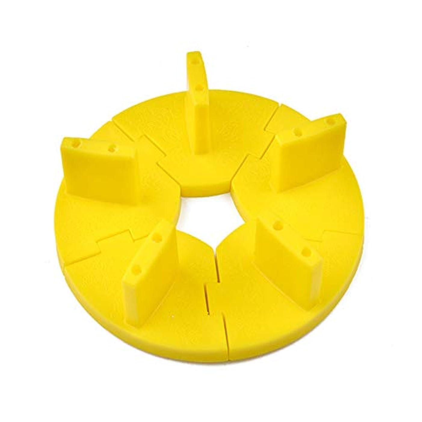打倒空気ボンドネイルチップスタンド ネイル練習ツール ディスプレイホルダースタンド 組み立て式 固定チップ5個付き (イエロー)