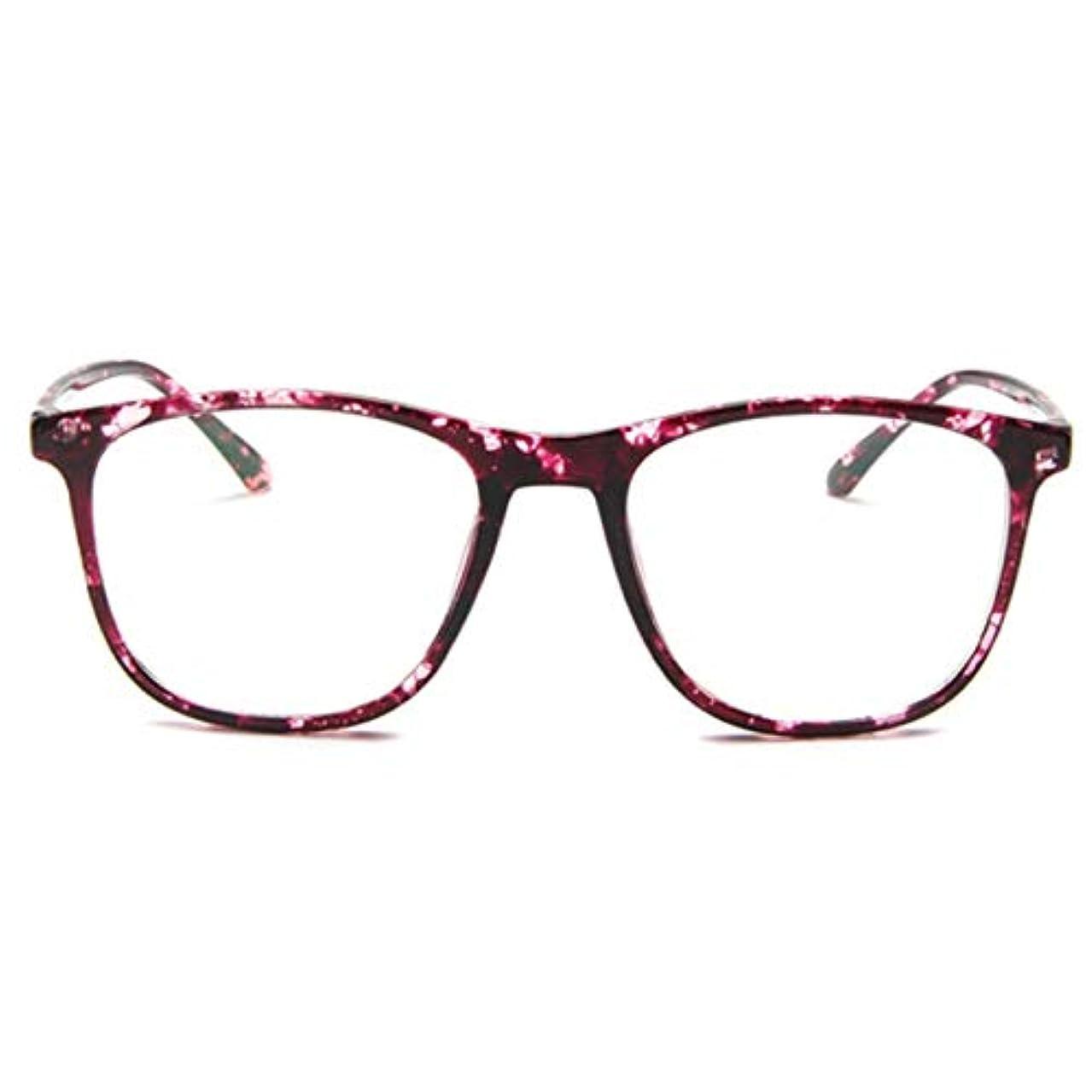 公爵促進する前提条件韓国の学生のプレーンメガネ男性と女性のファッションメガネフレーム近視メガネフレームファッショナブルなシンプルなメガネ-パープル