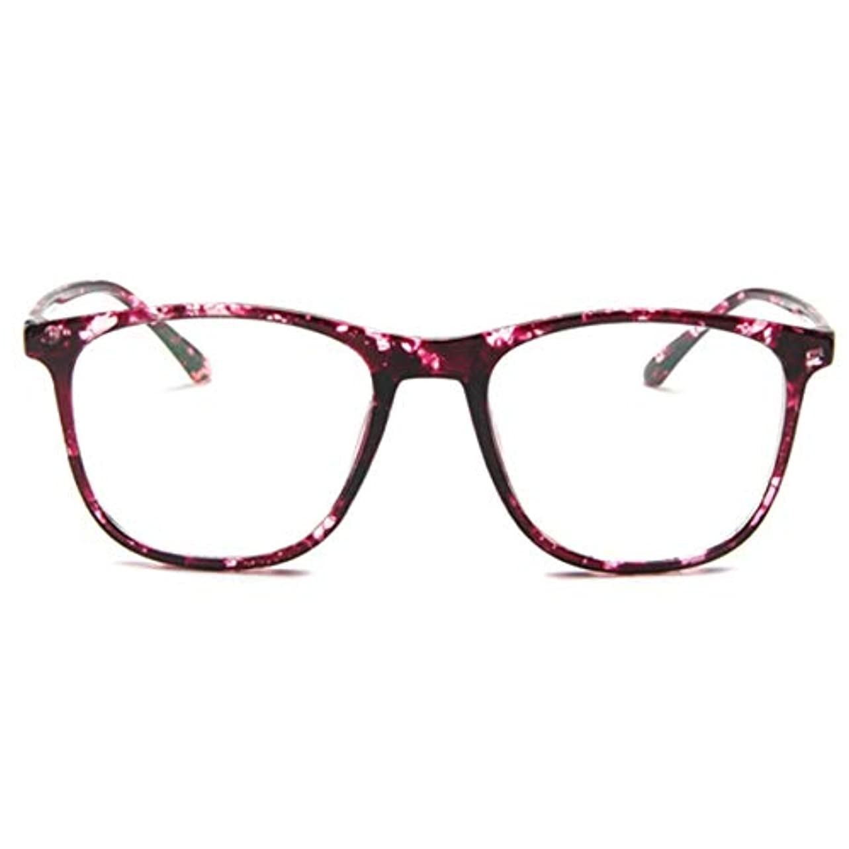 チャンバーブリーフケース頬骨韓国の学生のプレーンメガネ男性と女性のファッションメガネフレーム近視メガネフレームファッショナブルなシンプルなメガネ-パープル