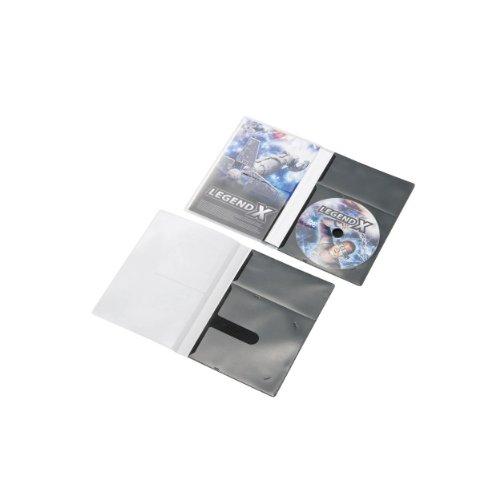 CD/DVD用スリム収納ソフトケース CCD-DPD30