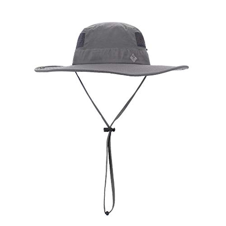 原点崖クラックポット帽子 サファリハット サンハット 撥水加工 男女兼用 日焼け防止 アウトドア あご紐付き