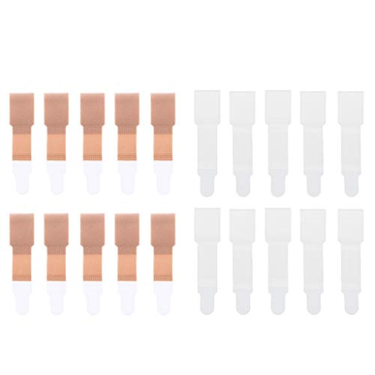 病気バッグロゴsharprepublic 20個セット トゥセパレータ ゴム製 柔軟 滑り止め 足保護 2色選べ - 肌+白