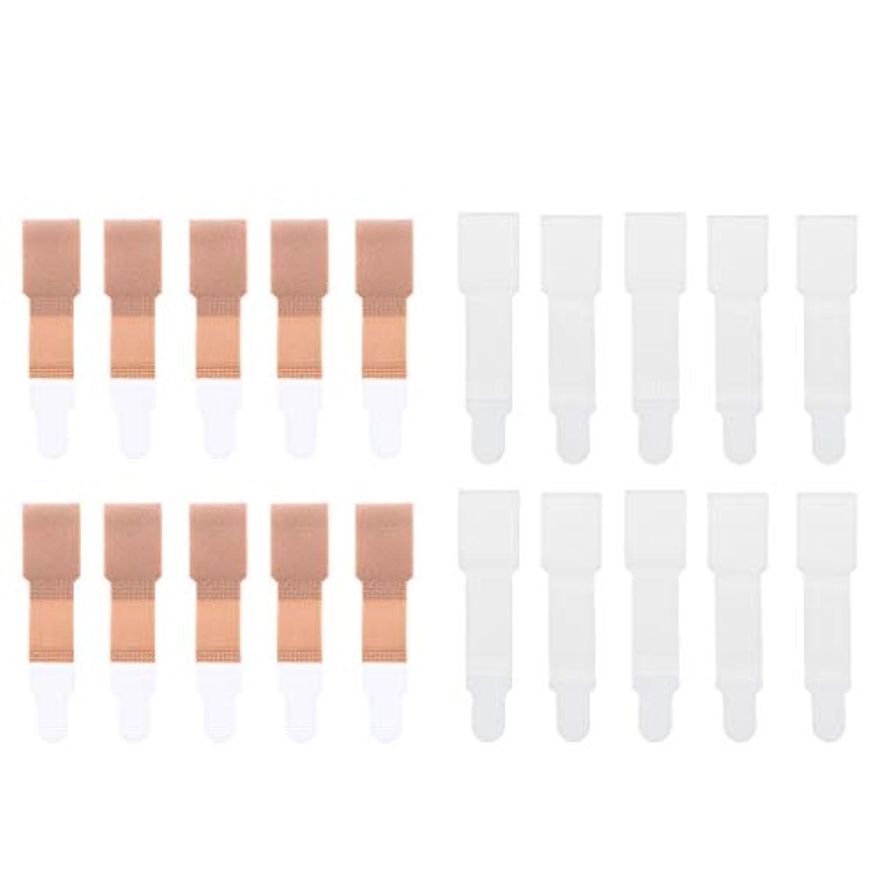 ハンディために慈善足のつまみ トゥーブレースラップ トゥセパレータ 包帯 ストレートナー 20個入り 全2色選べ - 肌+白