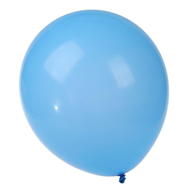 SODIAL(R) プレーン ライトブルーの12インチのヘリウム品質ラテックスバルーン 一パックで50個
