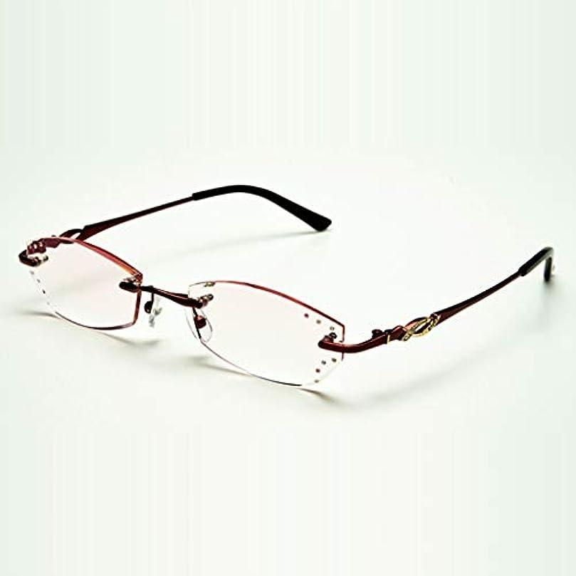 スタイリッシュなクリスタル老眼鏡、高解像度の耐摩耗性メガネ、耐久性。