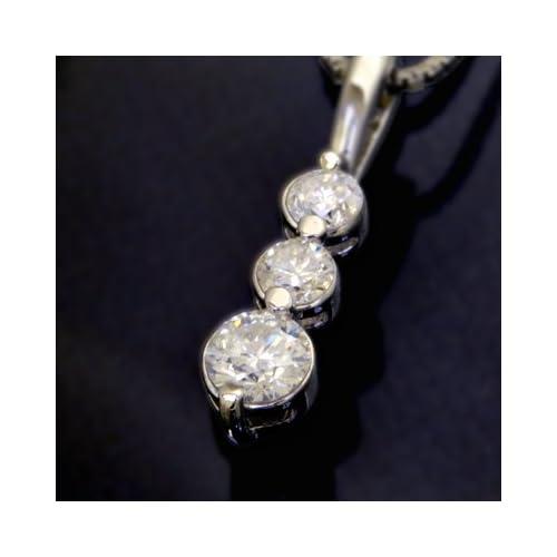 トリロジーネックレス/スリーストーン ダイヤモンド0.4ct レディース/ギフト プレゼント
