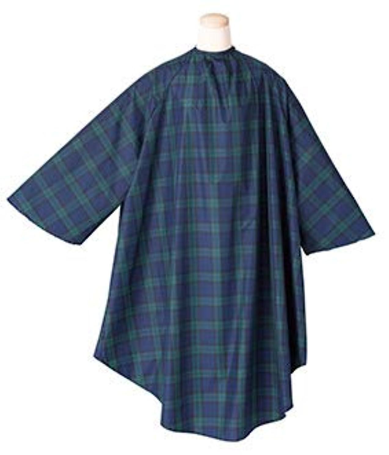 ビルマお手入れ患者エルコ 7225 タータンチェックⅡ 袖付ヘアダイクロス ナイロン100% 防水加工 毛染め/白髪染め/ヘアカラー