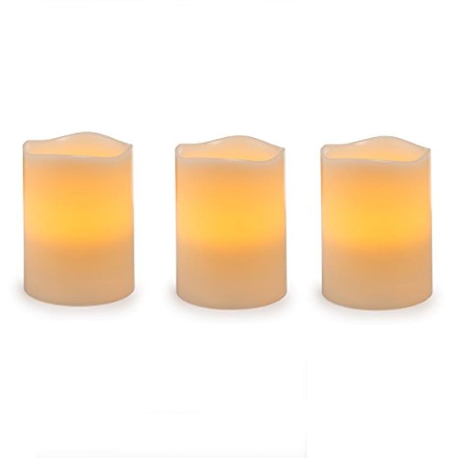 タッチ聖書錫Darice電池式LED Pillar Candleセット、3ピース