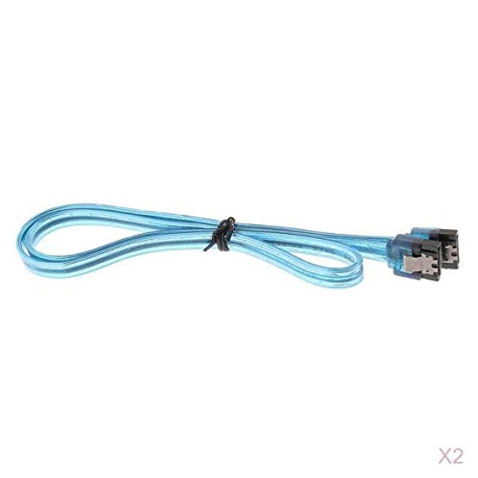 緊張する大胆不敵赤面Almencla SATAケーブル 2本 高速転送 6Gb/s ロックラッチ付き SATA3.0ケーブル