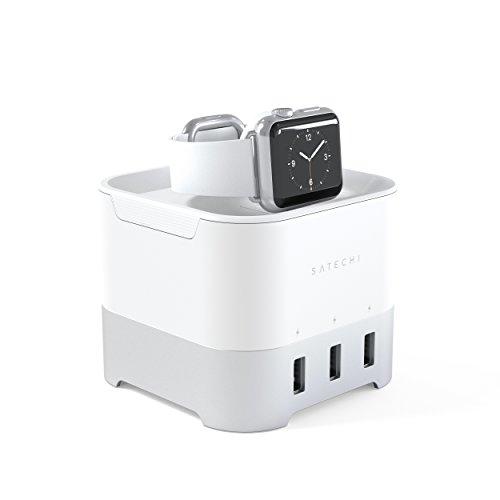 Satechi スマート 4ポート充電スタンド (アップルウォッチ Appl...