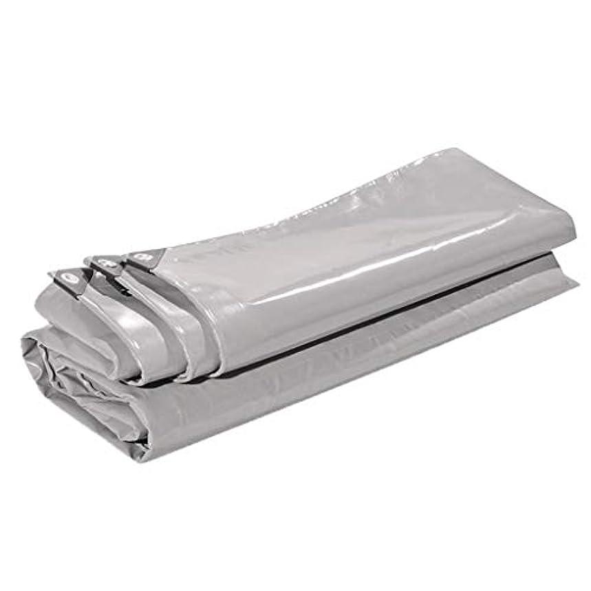 その間インフルエンザ処理多目的灰色がかった白の防水シートカバーキャンプグランドシート耐候性UV耐性シェルターアルミアイレットルーフラックグランドカバー