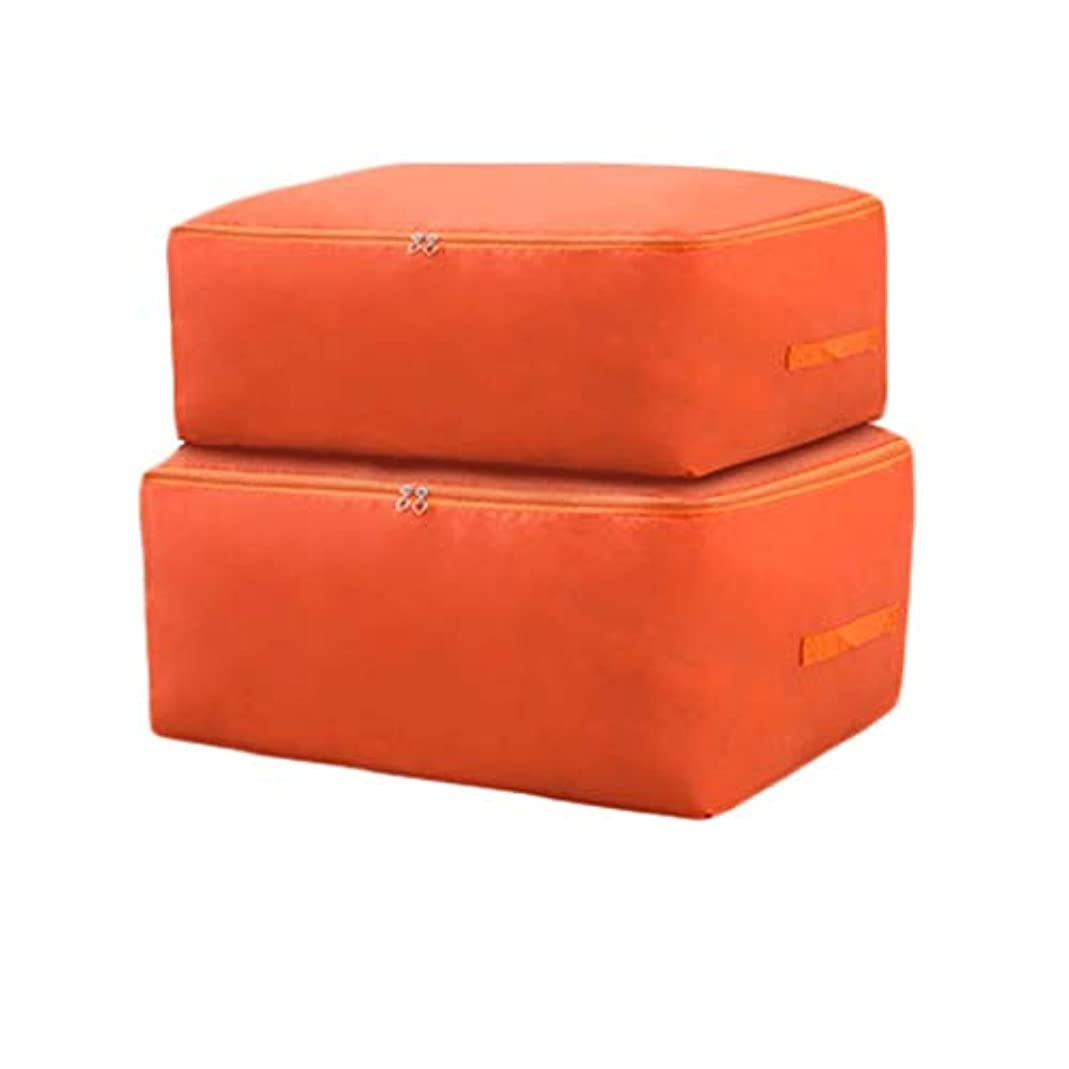 異常承認する修理可能防湿キルト収納袋衣類分類袋家庭用収納包装袋荷物パッケージ大収納袋折りたたみ収納袋 (色 : Orange color, サイズ さいず : M*2)