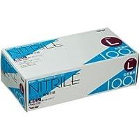 (まとめ) 川西工業 ニトリル極薄手袋 粉なし L #2041 1箱(100枚) 【×5セット】