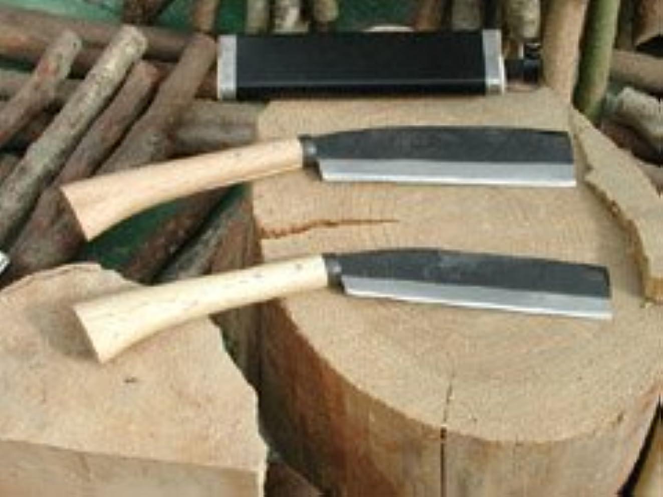 洗剤自伝検査官腰鉈営林165黒 両刃 白鋼 45幅 樫柄 木鞘 nata-117