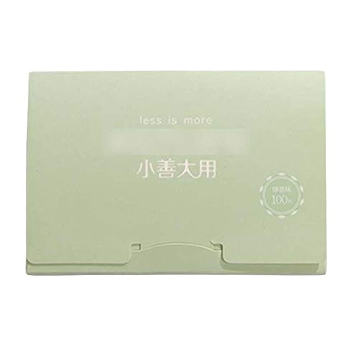 緑茶夏顔用携帯用あぶらとりティッシュペーパー、300枚