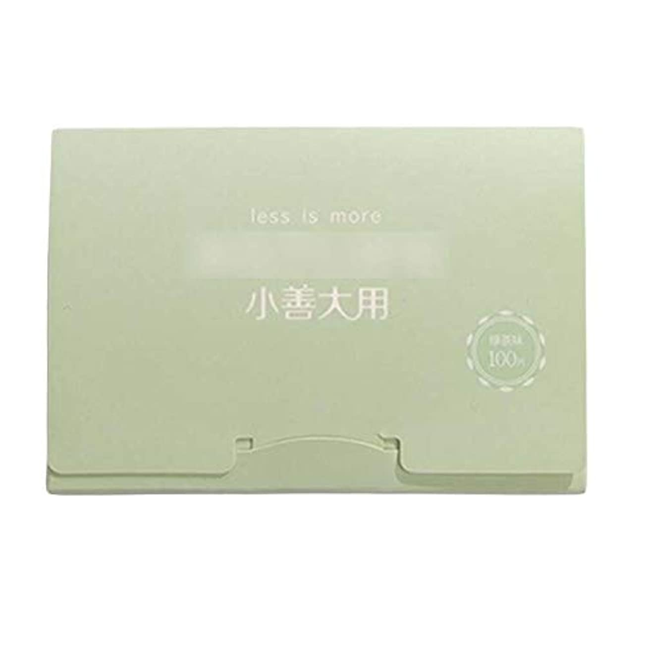 許容弾丸リーク緑茶夏顔用携帯用あぶらとりティッシュペーパー、300枚