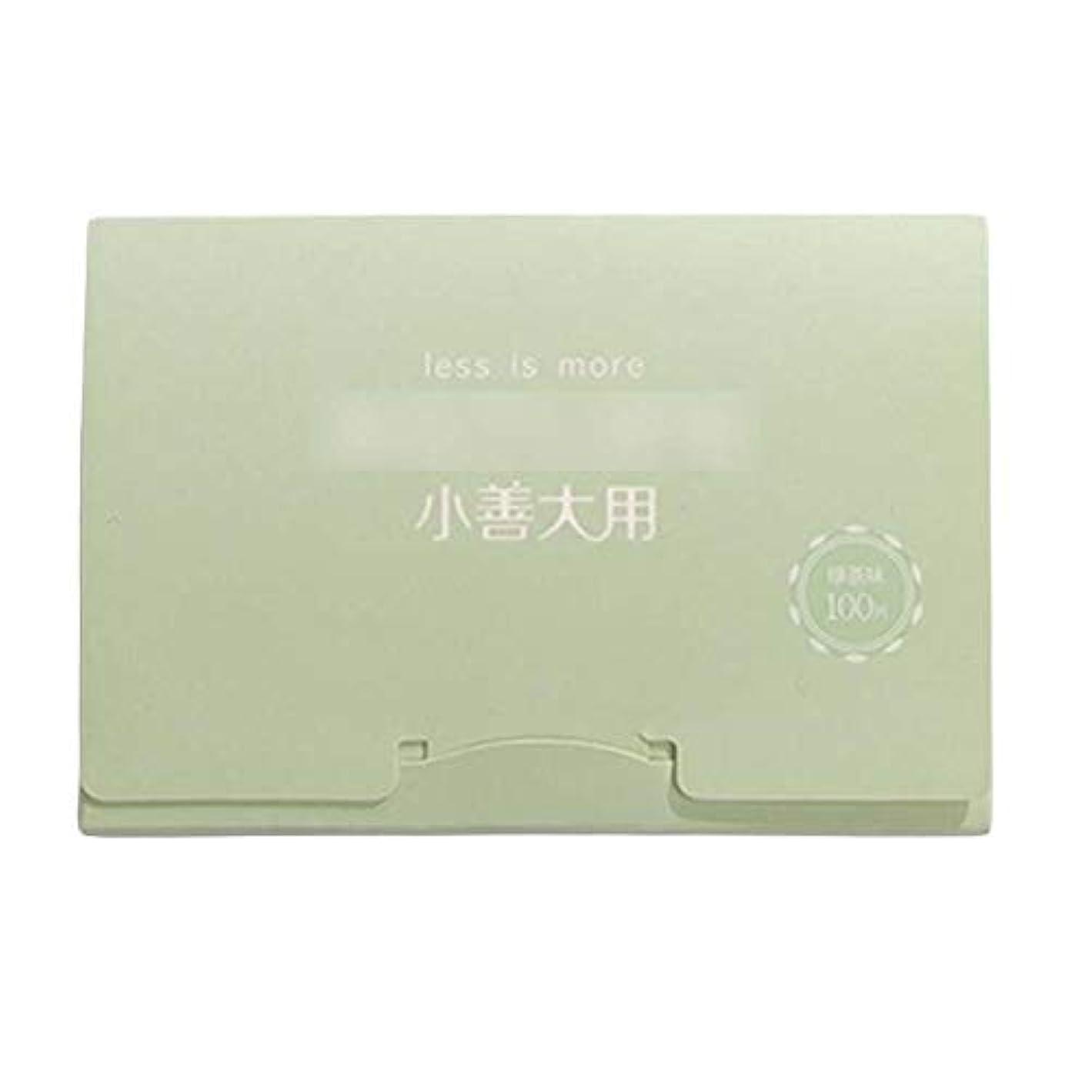 明快乳並外れた緑茶夏顔用携帯用あぶらとりティッシュペーパー、300枚