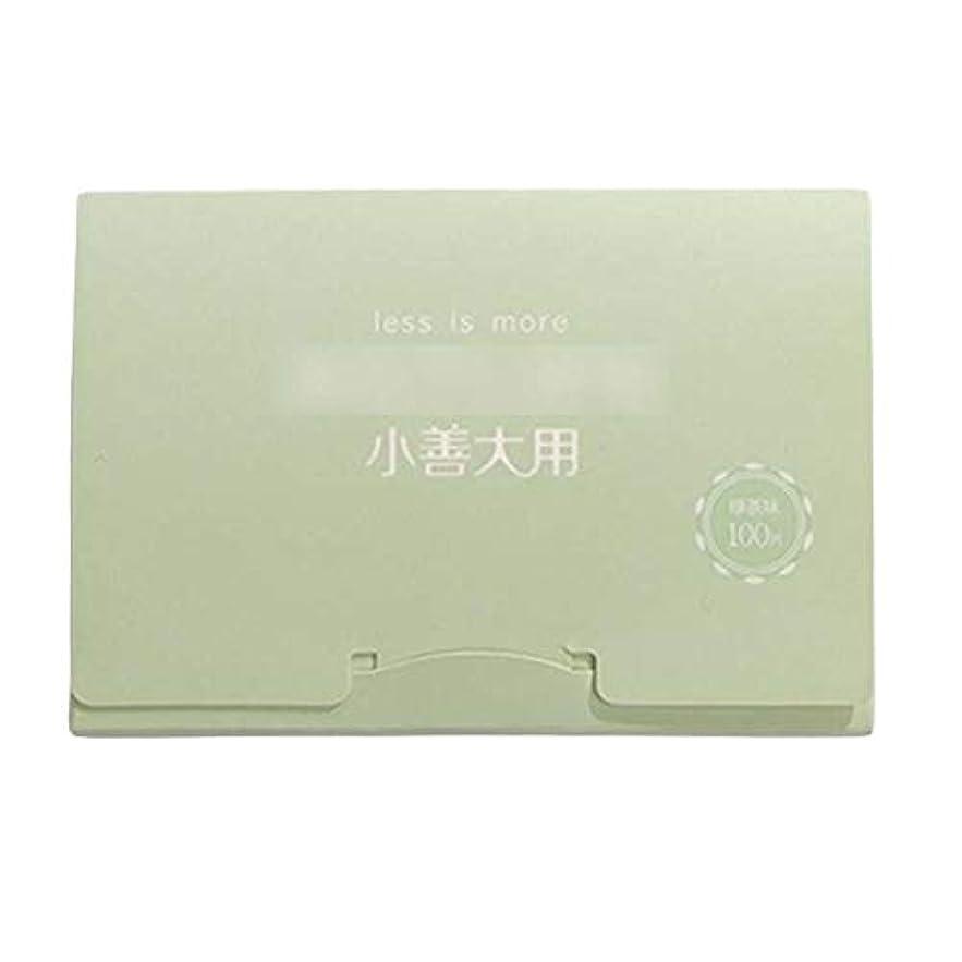 いわゆるあご最後の緑茶夏顔用携帯用あぶらとりティッシュペーパー、300枚