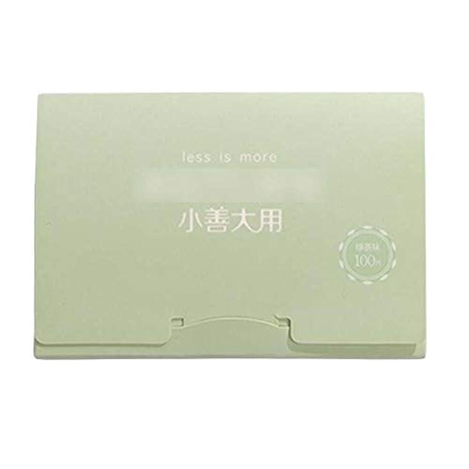 申請者染料最大の緑茶夏顔用携帯用あぶらとりティッシュペーパー、300枚