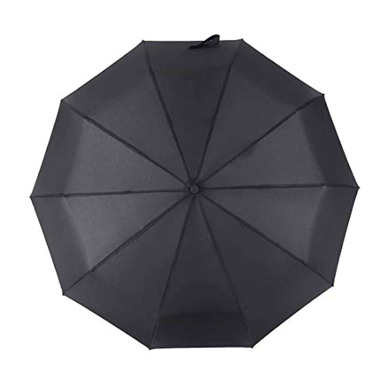 慣れているゆでる抵抗するSummerys 自動傘メンズビジネス傘30%傘防風傘 (Color : Black)