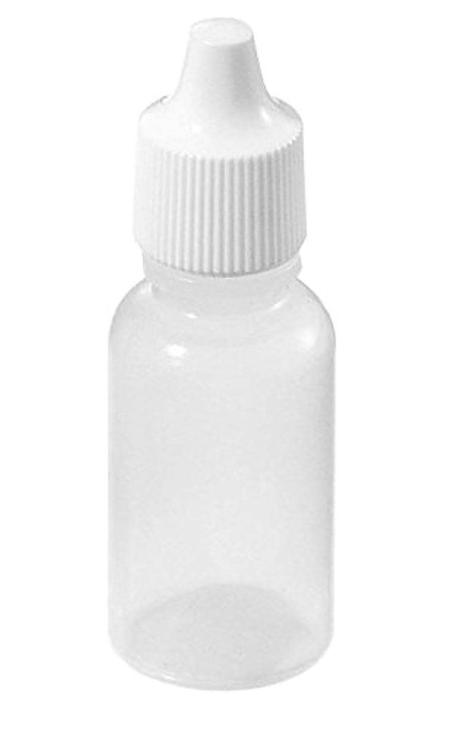 完全に乾くオプション咳BeautyCN 20個5ml/15ml/50ml 空の半透明の目薬ボトルローション溶剤軽油絵画アート電子タバコ容器詰め替え式ボトル (15ml)